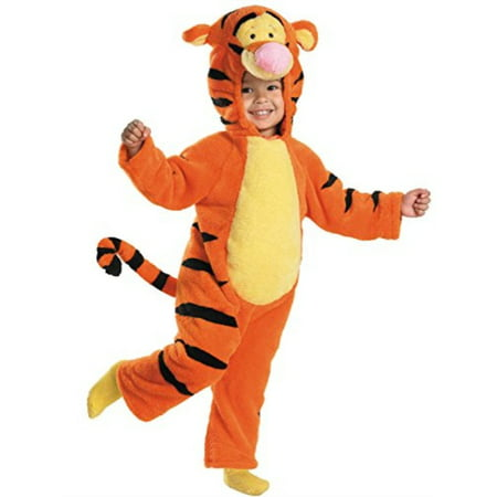 Winnie The Pooh And Tigger Halloween Costumes (tigger deluxe two-sided plush jumpsuit costume - small)