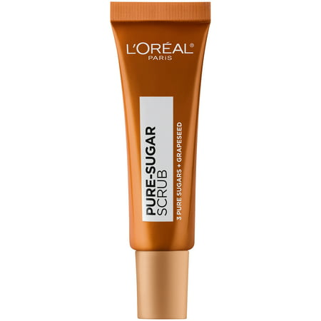 L'Oreal Paris Pure Sugar Scrub with Grapeseed to Smooth and Glow, 0.67 fl.