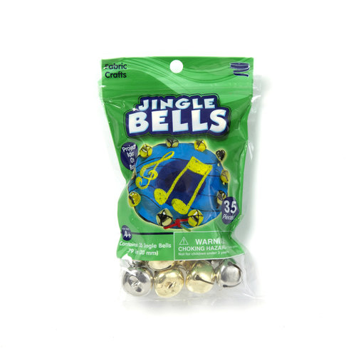 Kids Craft 20mm Jingle Bells, Gold/Silver