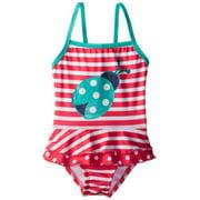 Pink Platinum Baby-Girls Infant Stripe Lady Bug 1 Piece