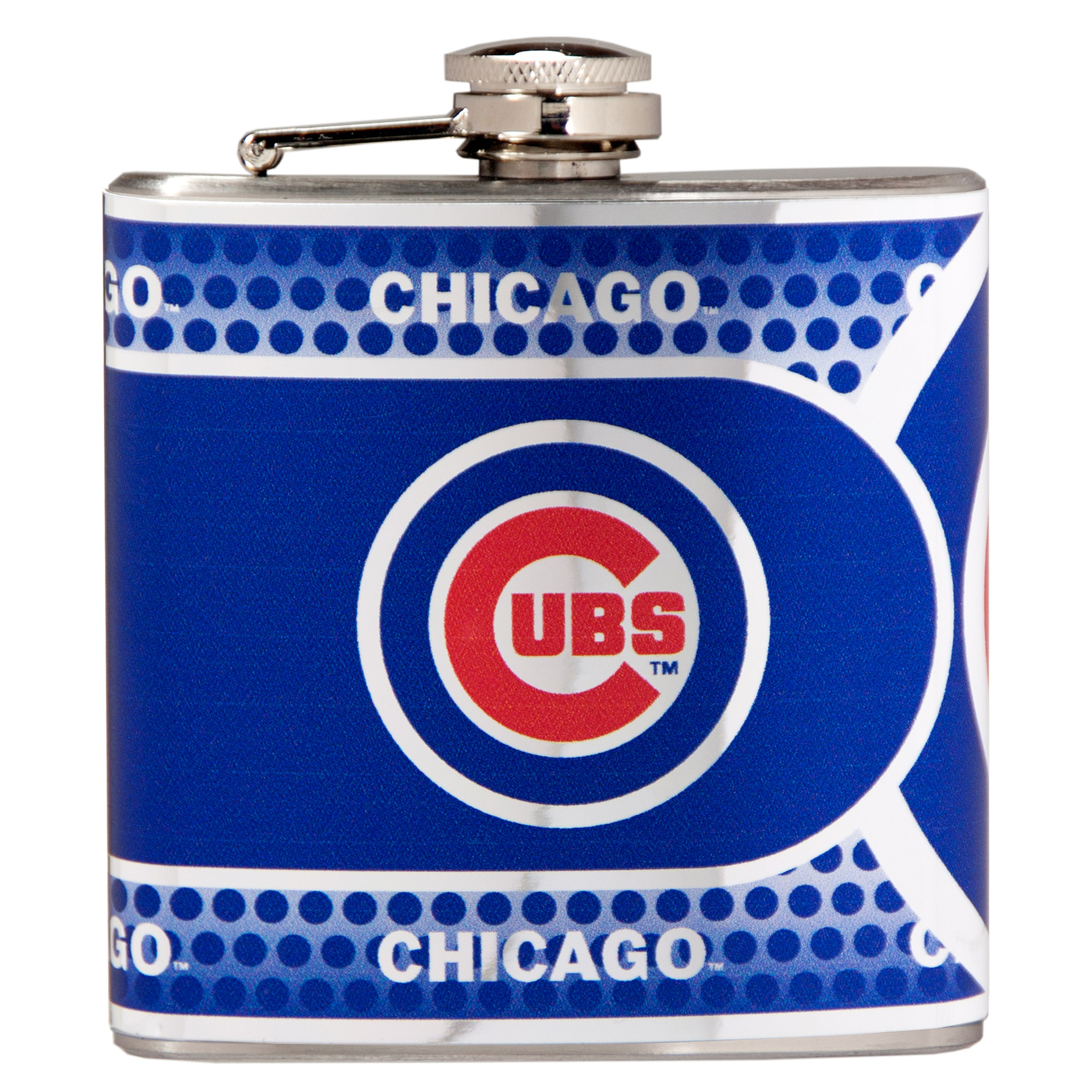 Chicago Cubs 6oz. Stainless Steel Hip Flask - Silver - No Size
