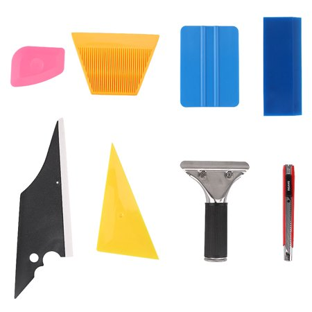 7 in 1 Car Window Film Tools Squeegee Scraper Set Kit Car Home