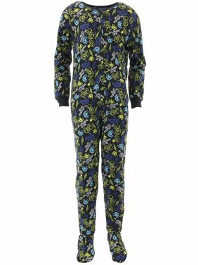 Only Boys Video Gamer Navy Footed Pajamas L/12-14