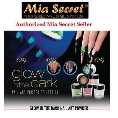 LWS LA Wholesale Store  Mia Secret Acrylic Powder Glow In the Dark Collection 3D Nail Art 6 Colors