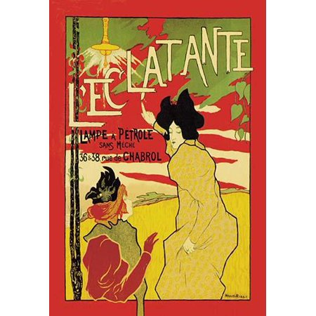 This poster by Robbe shows the influence of Japanese wood block prints on the Art Nouveau movement   The two women as if halted in the moment are pointing to a kerosene lamp that lays claim to a more (Japanese Block Prints)