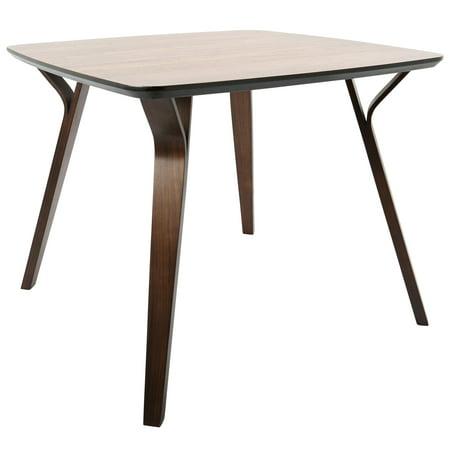 Lumisource Folia Mid Century Modern Dining Table Walnut