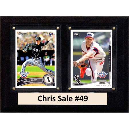 C&I Collectables MLB 6x8 Chris Sale Chicago White Sox 2-Card Plaque Chicago White Sox Plaque