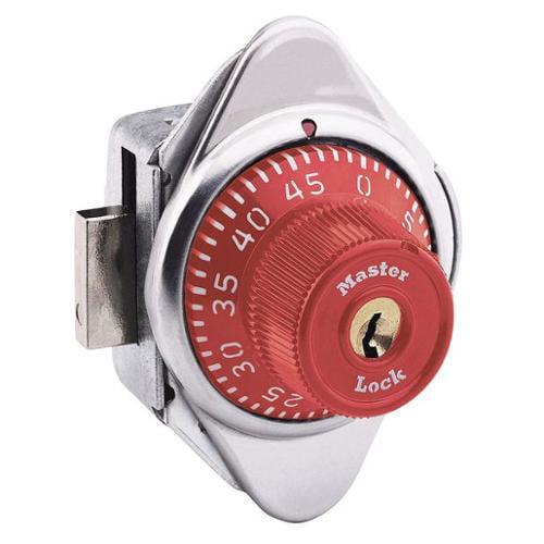 MASTER LOCK 1630RED Built In Locker Lock, Automatic, Red