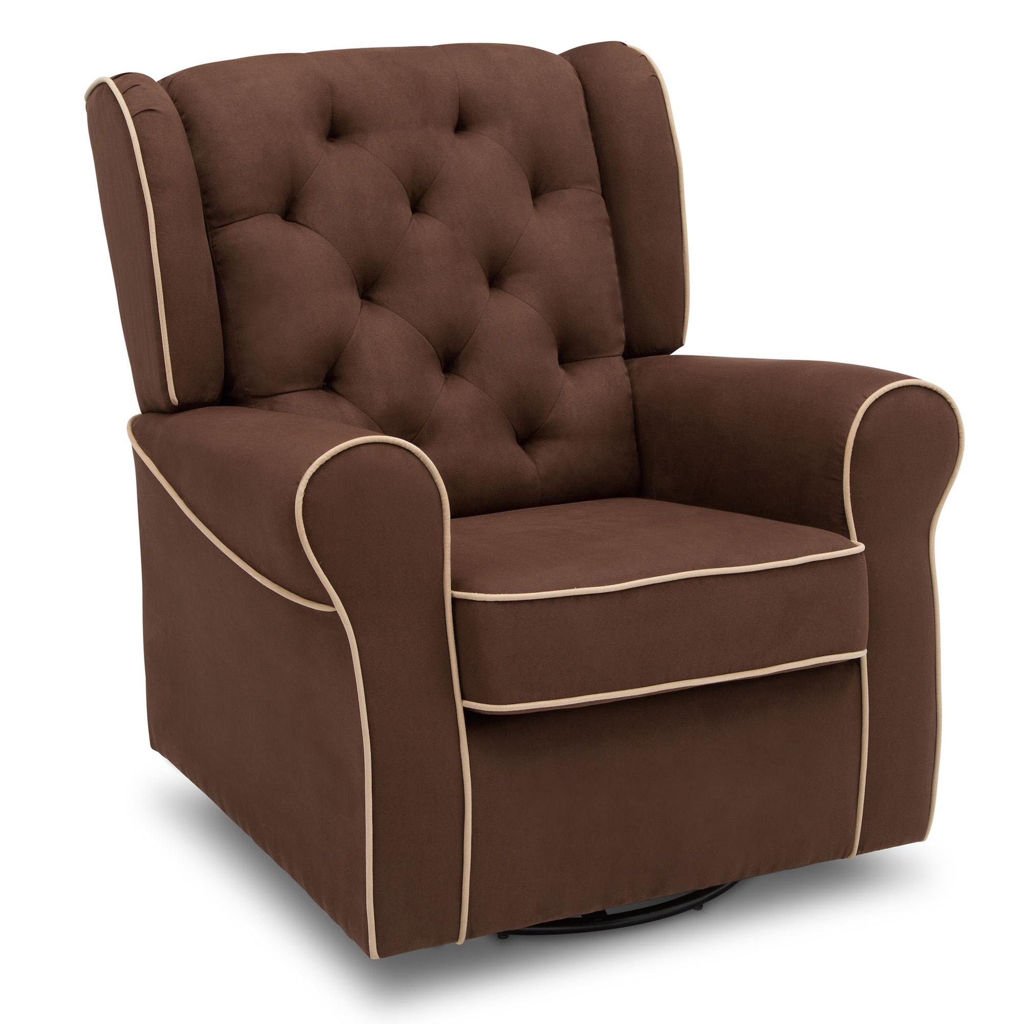 Click here to buy Delta Children Emerson Nursery Glider Swivel Rocker Chair, Cocoa with Beige Welt by Delta Children.