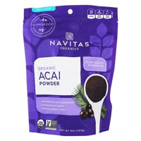 Navitas Organics Acai Powder, 8 oz. Bag  Organic, Non-GMO, Freeze-Dried, Gluten-Free 8 Ounce
