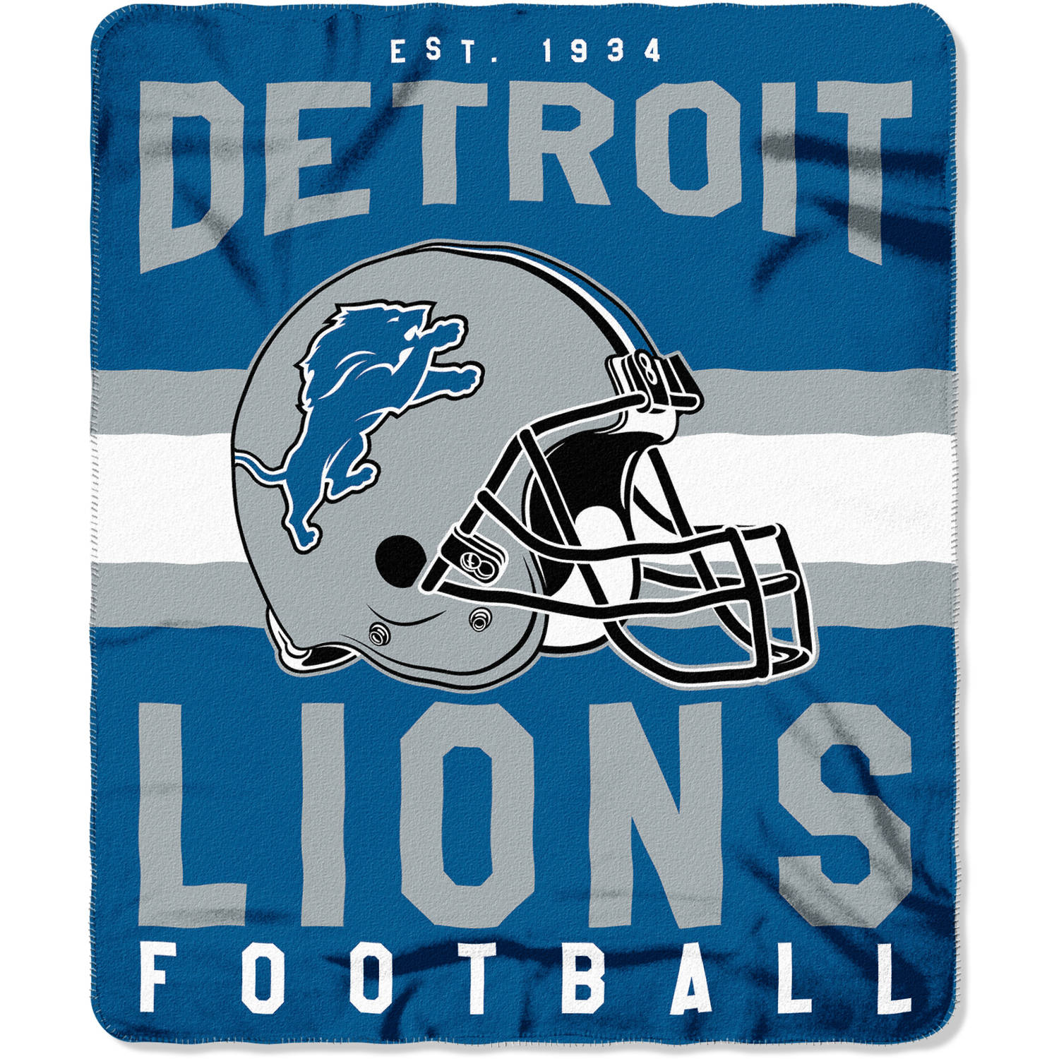 "NFL Detroit Lions ""Singular"" 50"" x 60"" Fleece Throw"