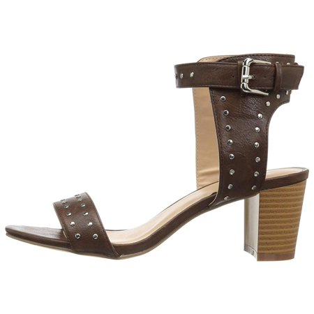 Journee Collection Womens Mabel Open Toe Casual Ankle Strap - Journee Accent