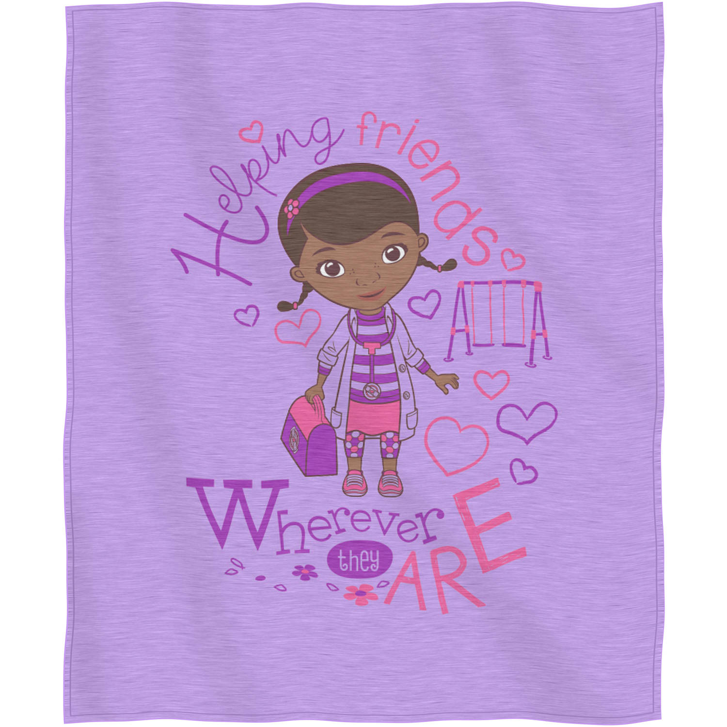 "Disney Doc McStuffins ""Doc Love"" Sweatshirt Throw, 50"" x 60"""