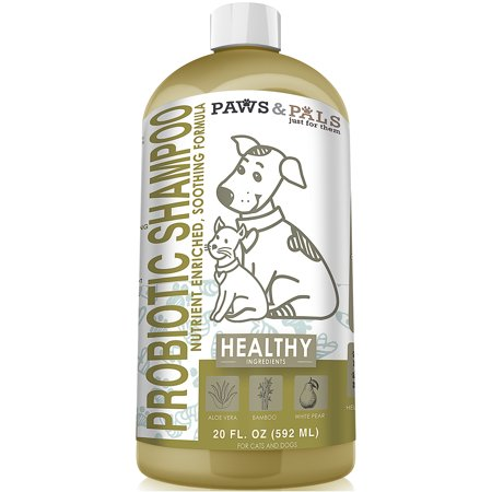 Paws & Pals Organic Probiotic Dog Shampoo & Conditioner 100% Natural 20 oz- Clinical Vet Formula Wash For All Pets - Shaggy Dog Wash