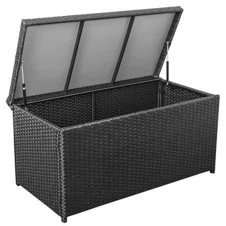 Sundale Outdoor Deluxe Wicker Deck Storage Box All Weather