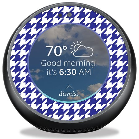 Houndstooth Wrap - Skin for Amazon Echo Spot - Blue Houndstooth| MightySkins Protective, Durable, and Unique Vinyl Decal wrap cover | Easy To Apply, Remove, and Change Styles | Made in the USA
