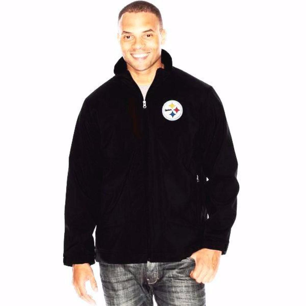 Pittsburgh Steelers Full-Zip Soft Shell Track Jacket by G-III Sports