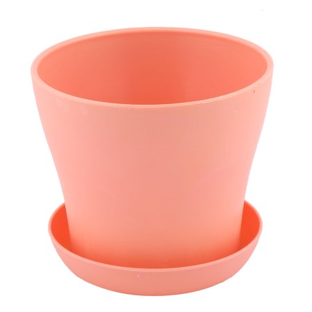 H tel fenêtre ronde Plastique rose fleur Plante Pot Orchidée Aloes Support bac Coral Pink - image 4 de 4