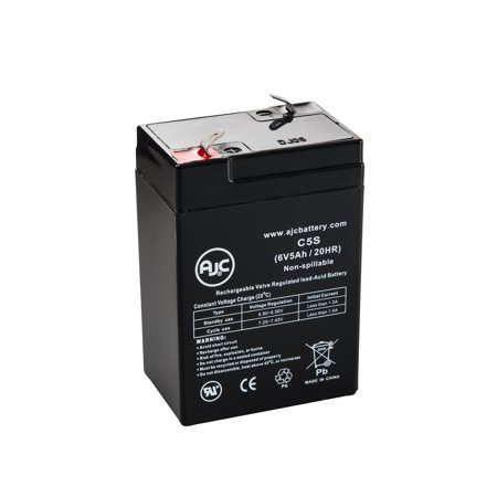 Ademco 465-654 6V 5Ah Alarm Battery - This is an AJC Brand Replacement