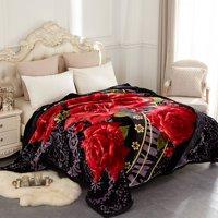 Heavy Korean Mink Plush Fleece Blanket (Multiple Sizes, Weights & Colors)