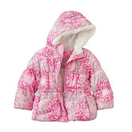 3d5ca5e38 Zero Xposur - Zero Xposur Toddler Girls Pink Leopard Print Winter Ski Jacket  Puffer Coat - Walmart.com