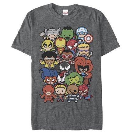 Marvel Men's Kawaii Hero Shot T-Shirt - Marvel Suits