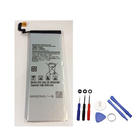 Brand NEW Replacement High Performance Internal Battery For Samsung Galaxy Note 5 EB-BN920ABE EB-BN920ABA 3000mAh with PNE Tool Kit Included in Non-Retail Package Internal Retail Kit