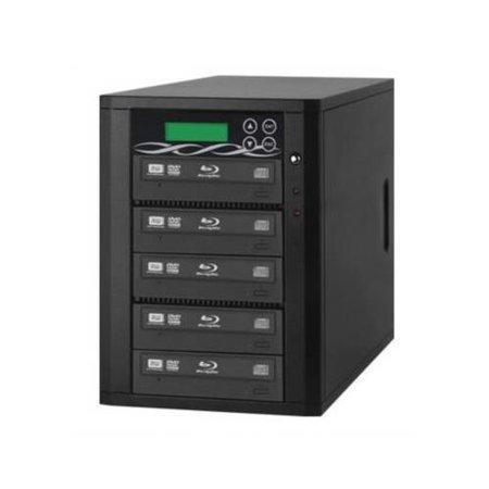 Spartan B05-SSPPRO 12X 5 Targets SATA Blu Ray Tower Duplicator with 500GB HDD 500 Gb Dvr System