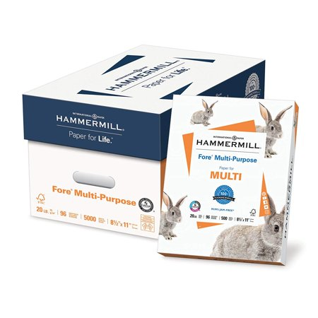 Hammermill Fore Multipurpose Paper, Letter Sized, 5000 Sheets Carton, White