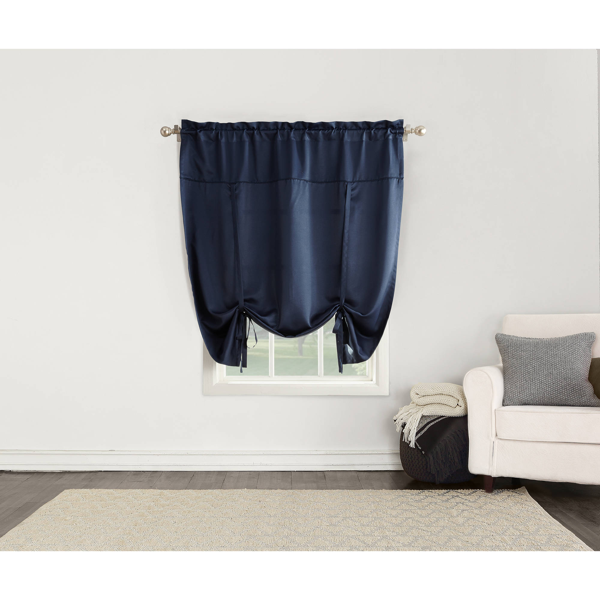 Sun Zero Bartlett Room-Darkening Tie-Up Window Shade