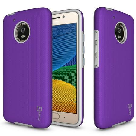 CoverON Motorola Moto G5 / Moto E4 (US Version) Case, Rugged Series Protective Hybrid Phone (Version Case Cover)