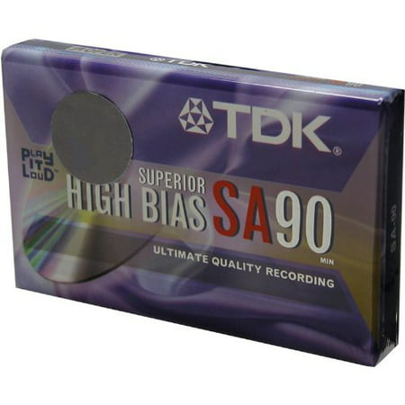 SA 90 minute Super High Resolution Type II Audio Cassette Tape, Type II / High Position By TDK (High Resolution)
