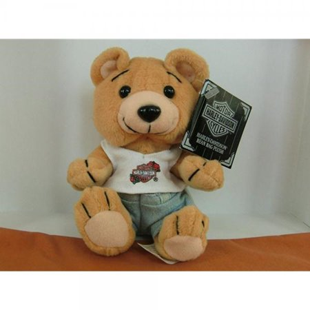 1 X Harley Davidson Bean Bag Plush Evo the Bear