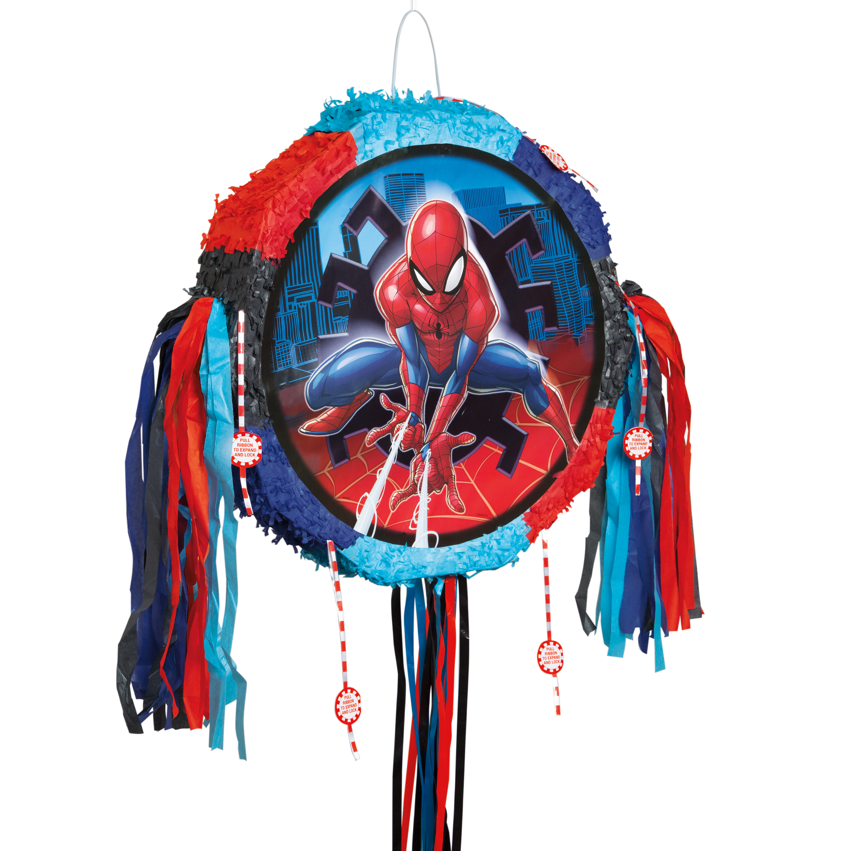 Spiderman Pinata, Pull String, 18 x 18 in