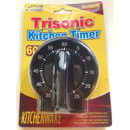 Trisonic 60 Minute Black Round Kitchen Timer - Walmart.com