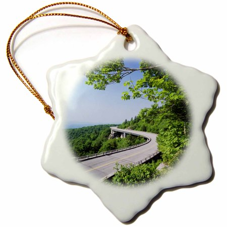 3Drose Highway  Blue Ridge Parkway  North Carolina  Usa   Us34 Aje0196   Adam Jones  Snowflake Ornament  Porcelain  3 Inch