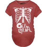 676cbc240b369 Maternity Skeleton Baby T Shirt Funny Cute Pregnancy Tee For Mothers