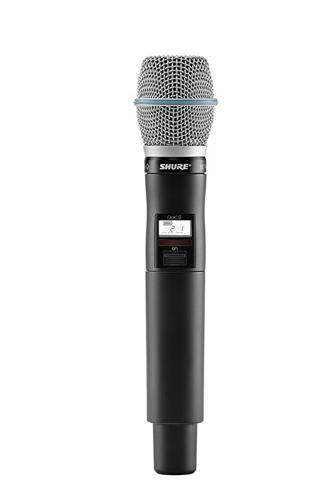 Shure QLXD2 BETA87A Handheld Wireless Microphone Transmitter by