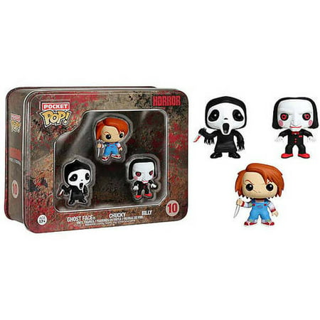 Pocket POP Horror 3-Piece Set, Ghostface, Chucky, Billy, Multi (Chucky Halloween Horror Nights)