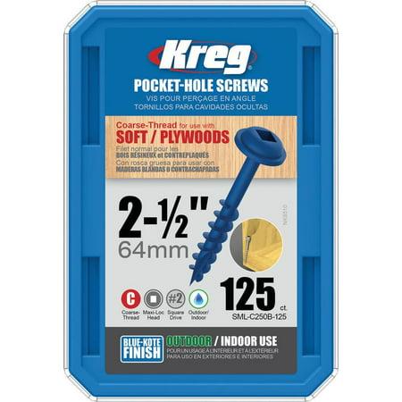 Kreg SML-C250B-125 Blue-Kote WR Pocket Screws - 2-1/2