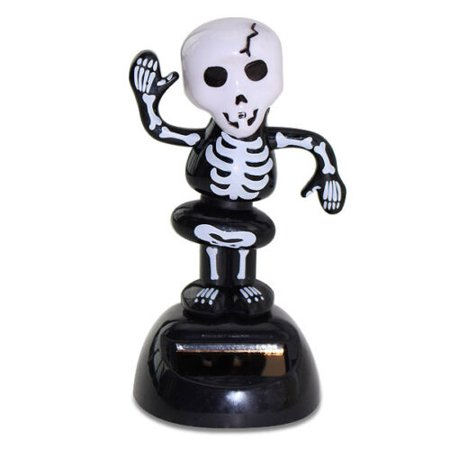 Halloween Dancing Skeleton Solar Powered Bobble Head Toy Scary Funny Decoration (Dancing Skeleton Toy)