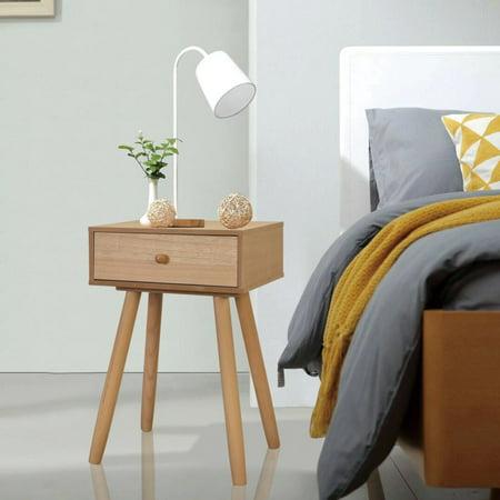"OTVIAP Bedside Tables 2 pcs Solid Pinewood 15.7""x11.8""x24"" Brown"