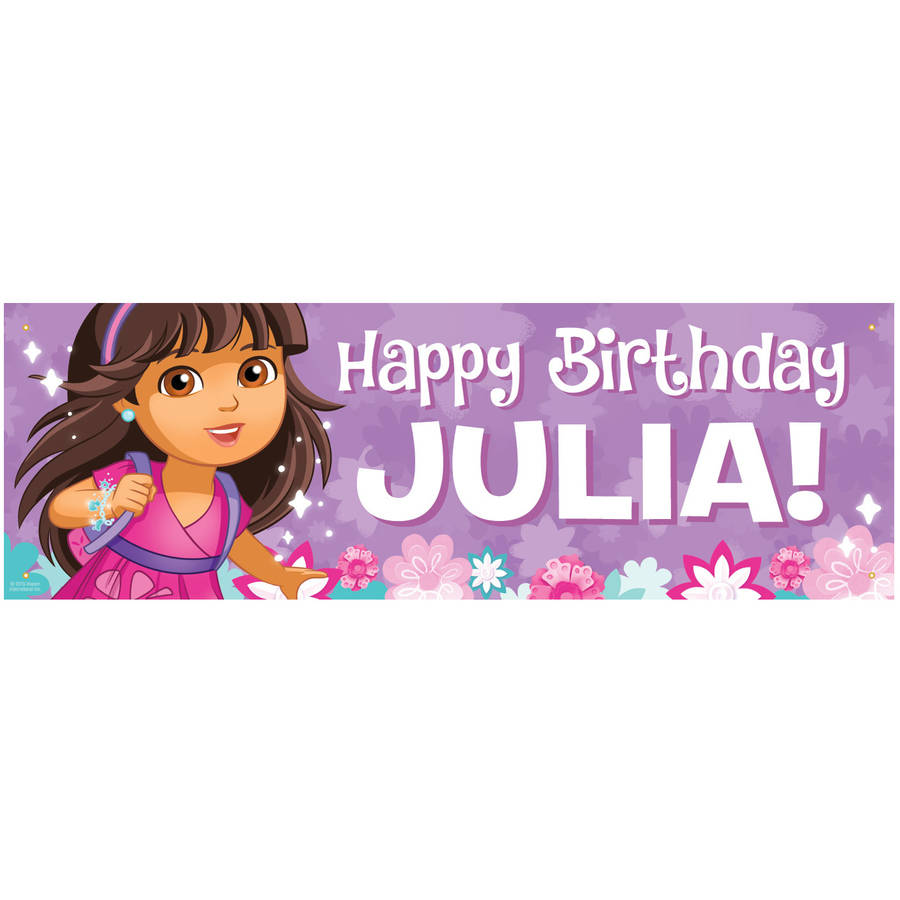 Personalized Dora and Friends Happy Birthday Banner