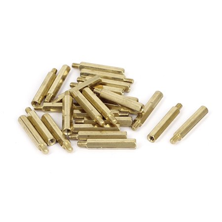 M4 x 30 + 6 mm femelle/male fileté laiton Hex Boulons pour pilier Spacer 25 pcs - image 2 de 2