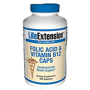 Folate & Vitamin B12 Life Extension 90 VCaps