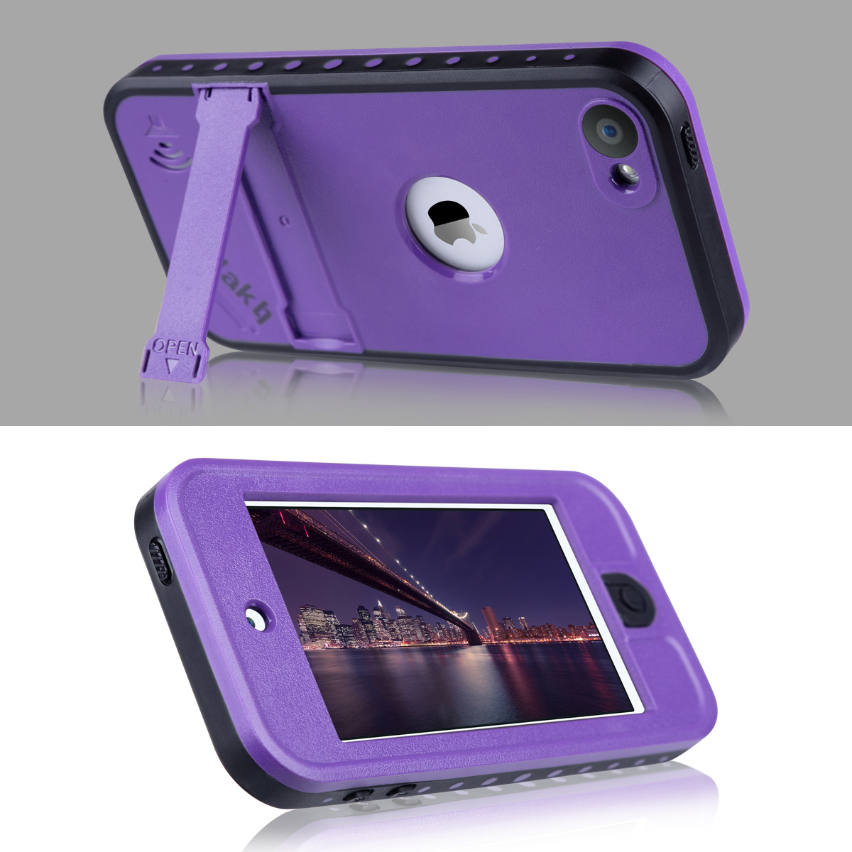 free shipping 9d0c0 bee65 iPod Touch 6th Generation Case, iPod Touch 5th Generation Case,ULAK  Waterproof Dustproof Sweatproof Cover Built-in Touch Screen with Kickstand  for ...