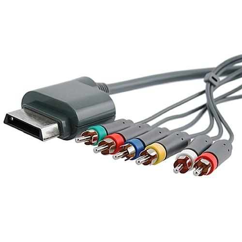 Insten 3 pcs Premium Component Audio Video HD AV Cable For Xbox 360