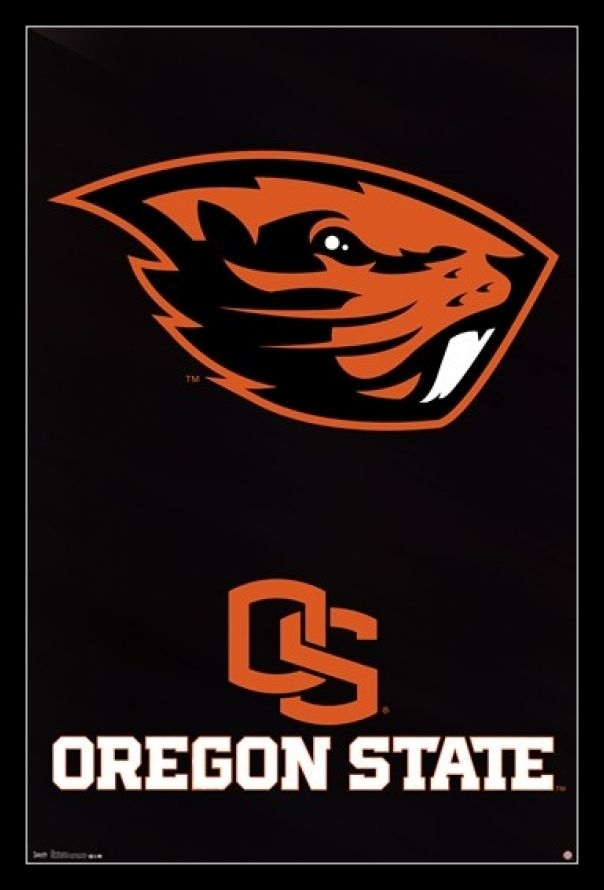 The Memory Company NCAA Oregon State University Official Black Rim Basic Clock One Size Multicolor