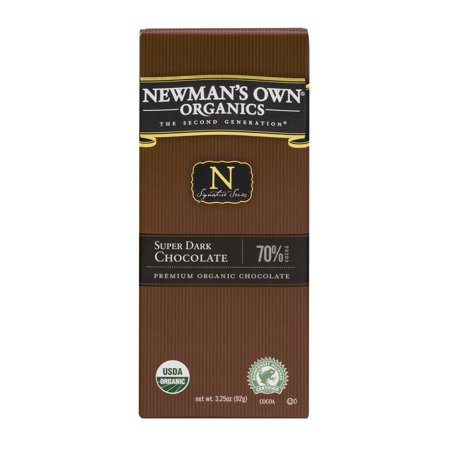 Newman S Own Super Dark Chocolate Bar