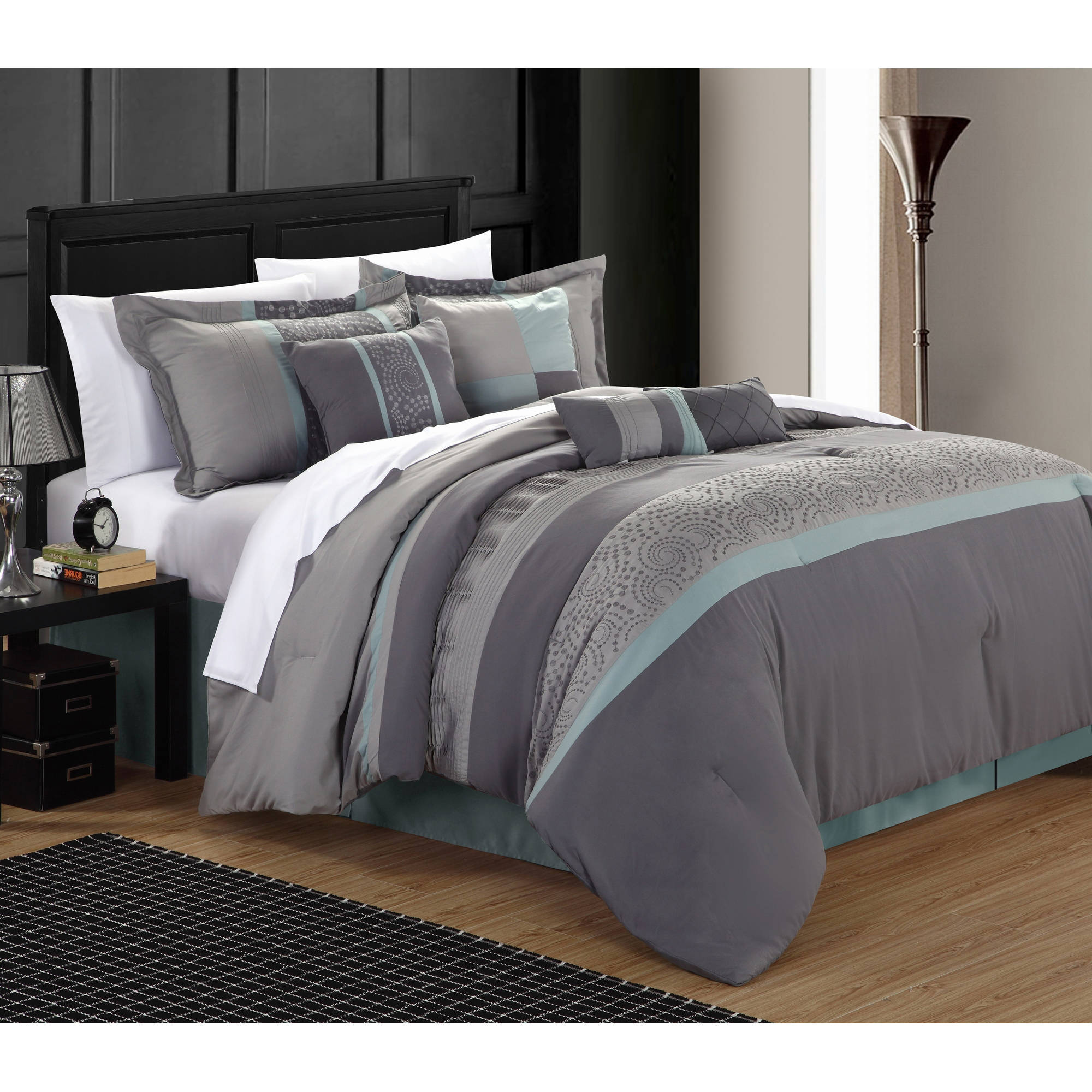 Chic Home Euphrasia 12 Piece Bed in a Bag Comforter Set